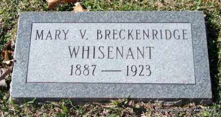 BRECKENRIDGE WHISENANT, MARY V. - Garland County, Arkansas | MARY V. BRECKENRIDGE WHISENANT - Arkansas Gravestone Photos