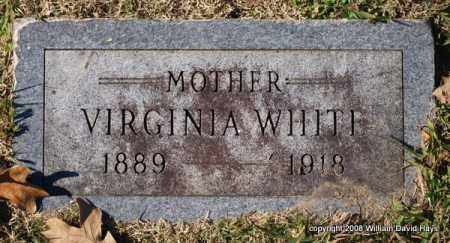 WHITE, VIRGINIA - Garland County, Arkansas | VIRGINIA WHITE - Arkansas Gravestone Photos