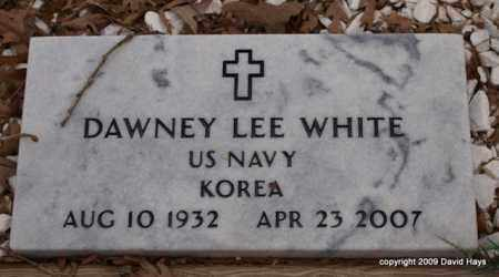 WHITE (VETERAN KOR), DAWNEY LEE - Garland County, Arkansas | DAWNEY LEE WHITE (VETERAN KOR) - Arkansas Gravestone Photos