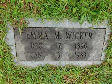 WICKER, EMMA M. - Garland County, Arkansas | EMMA M. WICKER - Arkansas Gravestone Photos
