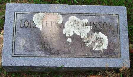 WILKINSON, LOIS LETHA - Garland County, Arkansas   LOIS LETHA WILKINSON - Arkansas Gravestone Photos