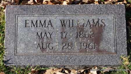 WILLIAMS, EMMA - Garland County, Arkansas | EMMA WILLIAMS - Arkansas Gravestone Photos