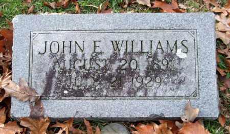 WILLIAMS, JOHN E. - Garland County, Arkansas | JOHN E. WILLIAMS - Arkansas Gravestone Photos