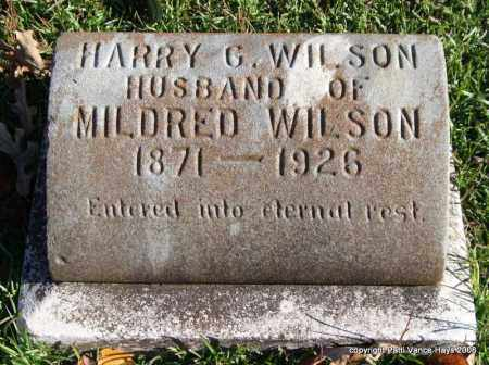 WILSON, HARRY G. - Garland County, Arkansas | HARRY G. WILSON - Arkansas Gravestone Photos