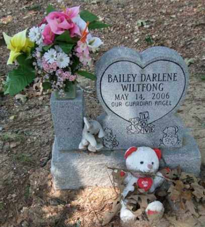 WILTFONG, BAILEY DARLENE - Garland County, Arkansas | BAILEY DARLENE WILTFONG - Arkansas Gravestone Photos