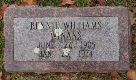 WINANS, BENNIE WILLIAMS - Garland County, Arkansas | BENNIE WILLIAMS WINANS - Arkansas Gravestone Photos