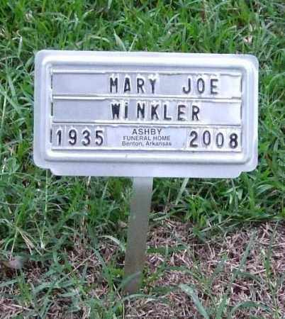 TOPPING WINKLER, MARY JOE - Garland County, Arkansas | MARY JOE TOPPING WINKLER - Arkansas Gravestone Photos