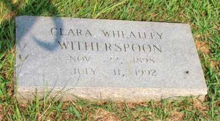 WHEATLEY WITHERSPOON, CLARA - Garland County, Arkansas | CLARA WHEATLEY WITHERSPOON - Arkansas Gravestone Photos