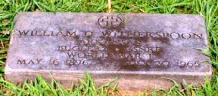 WITHERSPOON (VETERAN WWI), WILLIAM D - Garland County, Arkansas | WILLIAM D WITHERSPOON (VETERAN WWI) - Arkansas Gravestone Photos
