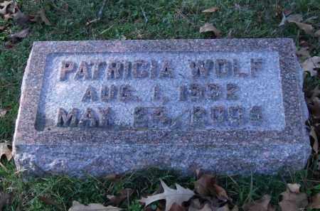 WOLF, PATRICIA - Garland County, Arkansas | PATRICIA WOLF - Arkansas Gravestone Photos