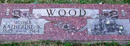 WOOD, KATHERINE K. - Garland County, Arkansas | KATHERINE K. WOOD - Arkansas Gravestone Photos