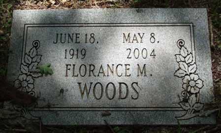WOODS, FLORANCE M. - Garland County, Arkansas | FLORANCE M. WOODS - Arkansas Gravestone Photos