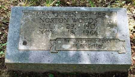 WOODS, QUEEN ESTHER - Garland County, Arkansas | QUEEN ESTHER WOODS - Arkansas Gravestone Photos