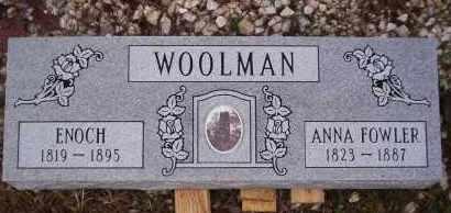 FOWLER WOOLMAN, ANNA - Garland County, Arkansas | ANNA FOWLER WOOLMAN - Arkansas Gravestone Photos