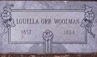 WOOLMAN, LOUELLA - Garland County, Arkansas | LOUELLA WOOLMAN - Arkansas Gravestone Photos