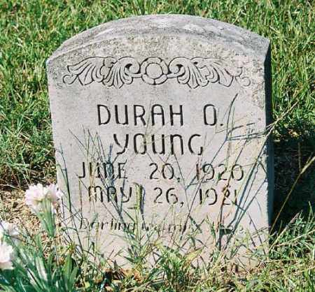 YOUNG, DURAH O. - Garland County, Arkansas | DURAH O. YOUNG - Arkansas Gravestone Photos