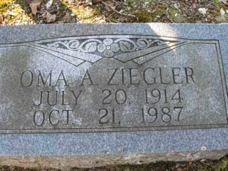 ZIEGLER, OMA A. - Garland County, Arkansas | OMA A. ZIEGLER - Arkansas Gravestone Photos