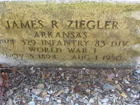 ZIEGLER (VETERAN WWI), JAMES ROBERT - Garland County, Arkansas | JAMES ROBERT ZIEGLER (VETERAN WWI) - Arkansas Gravestone Photos