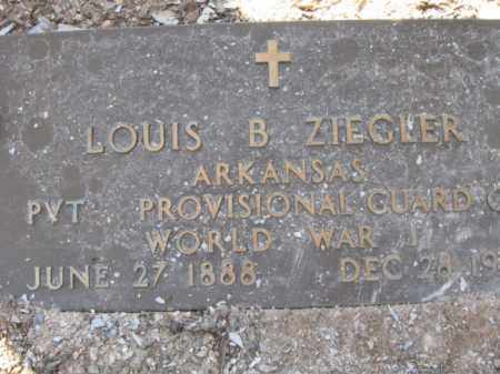 ZIEGLER (VETERAN WWI), LOUIS BENJAMIN - Garland County, Arkansas | LOUIS BENJAMIN ZIEGLER (VETERAN WWI) - Arkansas Gravestone Photos