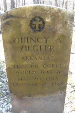 ZIEGLER (VETERAN WWII), QUINCY A. - Garland County, Arkansas | QUINCY A. ZIEGLER (VETERAN WWII) - Arkansas Gravestone Photos