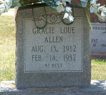 ALLEN, GRACIE - Grant County, Arkansas | GRACIE ALLEN - Arkansas Gravestone Photos
