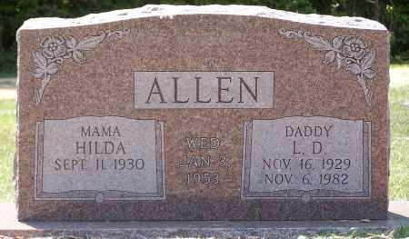 ALLEN, L. D. - Grant County, Arkansas | L. D. ALLEN - Arkansas Gravestone Photos
