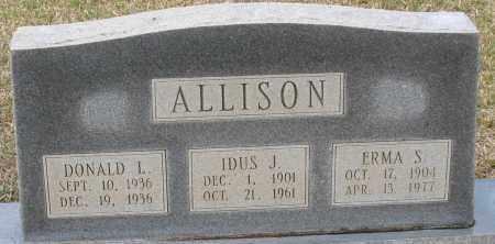 SANDERS ALLISON, ERMA - Grant County, Arkansas | ERMA SANDERS ALLISON - Arkansas Gravestone Photos