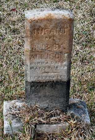 ALLISON, INFANT - Grant County, Arkansas | INFANT ALLISON - Arkansas Gravestone Photos