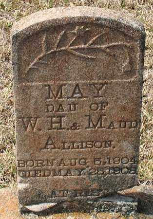 ALLISON, MAY - Grant County, Arkansas | MAY ALLISON - Arkansas Gravestone Photos