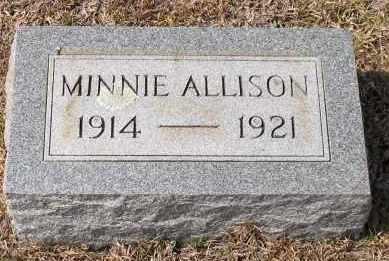 ALLISON, MINNIE - Grant County, Arkansas | MINNIE ALLISON - Arkansas Gravestone Photos