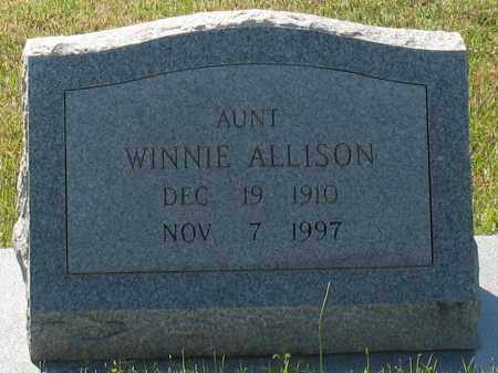 ALLISON, WINNIE - Grant County, Arkansas | WINNIE ALLISON - Arkansas Gravestone Photos