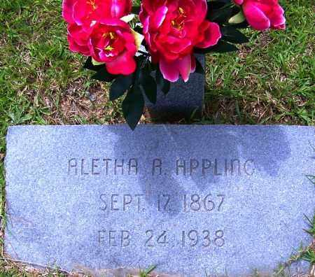 APPLING, ALETHA A - Grant County, Arkansas | ALETHA A APPLING - Arkansas Gravestone Photos