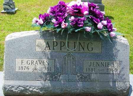 APPLING, JENNIE I - Grant County, Arkansas | JENNIE I APPLING - Arkansas Gravestone Photos