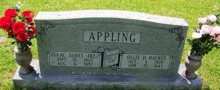 HAYNES APPLING, OLLIE D - Grant County, Arkansas | OLLIE D HAYNES APPLING - Arkansas Gravestone Photos