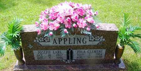 CLEMENT APPLING, ZOLA - Grant County, Arkansas | ZOLA CLEMENT APPLING - Arkansas Gravestone Photos