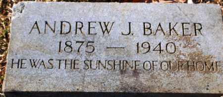 BAKER, ANDREW J - Grant County, Arkansas | ANDREW J BAKER - Arkansas Gravestone Photos