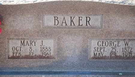 BAKER, MARY J - Grant County, Arkansas | MARY J BAKER - Arkansas Gravestone Photos