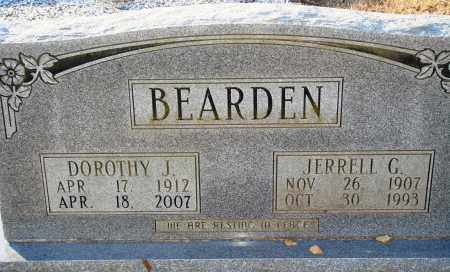 BEARDEN, DOROTHY J - Grant County, Arkansas | DOROTHY J BEARDEN - Arkansas Gravestone Photos