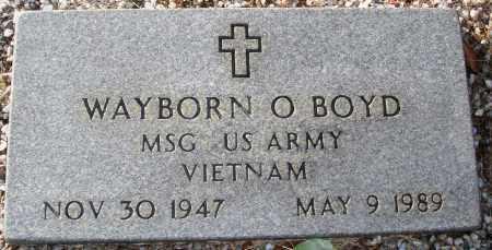 BOYD (VETERAN VIET), WAYBORN O - Grant County, Arkansas | WAYBORN O BOYD (VETERAN VIET) - Arkansas Gravestone Photos