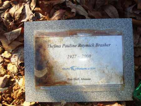 BRASHER, THELMA PAULINE - Grant County, Arkansas | THELMA PAULINE BRASHER - Arkansas Gravestone Photos