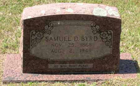 BYRD, SAMUEL DANIEL - Grant County, Arkansas | SAMUEL DANIEL BYRD - Arkansas Gravestone Photos