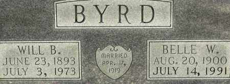 BYRD, BELLE W. (CLOSEUP) - Grant County, Arkansas | BELLE W. (CLOSEUP) BYRD - Arkansas Gravestone Photos