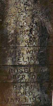 CALDWELL, ROSELLA(CLOSEUP) - Grant County, Arkansas | ROSELLA(CLOSEUP) CALDWELL - Arkansas Gravestone Photos