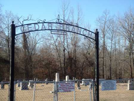 *CEDAR BRANCH CEMETERY GATE,  - Grant County, Arkansas |  *CEDAR BRANCH CEMETERY GATE - Arkansas Gravestone Photos