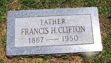 CLIFTON, FRANCIS H - Grant County, Arkansas | FRANCIS H CLIFTON - Arkansas Gravestone Photos