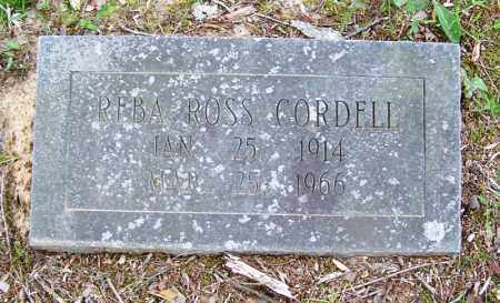 ROSS CORDELL, REBA - Grant County, Arkansas | REBA ROSS CORDELL - Arkansas Gravestone Photos