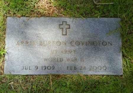 COVINGTON  (VETERAN WWII), ARRIE BURTON - Grant County, Arkansas | ARRIE BURTON COVINGTON  (VETERAN WWII) - Arkansas Gravestone Photos