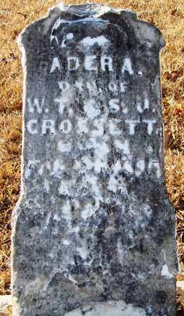 CROSSETT, ADER A. - Grant County, Arkansas | ADER A. CROSSETT - Arkansas Gravestone Photos