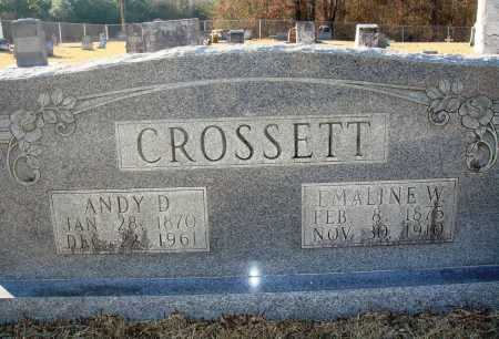 CROSSETT, ANDY D - Grant County, Arkansas | ANDY D CROSSETT - Arkansas Gravestone Photos