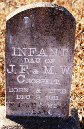 CROSSETT, INFANT DAUGHTER - Grant County, Arkansas | INFANT DAUGHTER CROSSETT - Arkansas Gravestone Photos